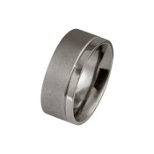 Titanium 8mm Ring Two Thirds and One Third Polished Design