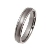 Titanium 4mm Rounded Design Ring
