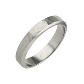 Titanium 4mm Patterned Ring with Bevelled Edges