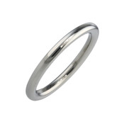 Titanium 2mm Court Shape Plain Ring