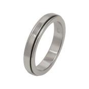 Titanium 4mm Flat Designed Ring with Dropped Edges