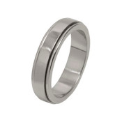 Titanium 6mm Flat Designed Ring with Dropped Edges