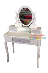Victoria dressing table matches all of our low gloss beds and Furniture.