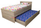 Andira King Single Captains Trundle Bed is a very modern and practical bedroom space saving solution for boys or girls. Bed includes slim line Bedhead / Foot board to reduce bulk and Three Drawers and a Single Trundle.