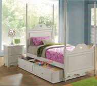 Hearts Bed With Interchangeable Poles with Trundle