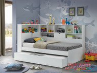 1. Single Miami Trundle Bed with Bookcase