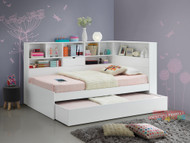 1. King Single Miami Trundle with Bookcase Bed