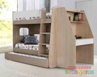 2. Sidney Bunk Bed with Desk