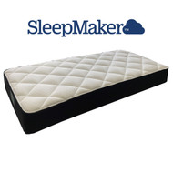 "Sleepmaker Brand ""Just Sleep"". Smooth Top Design, Full Width Pocket Spring, Medium Comfort Layers, Climatex Quilt and a 5 Year Warranty. 240mm depth."
