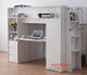 Boho Space Saver Bunk Bed is a great option for space saving. Awesome use of space with a drawers, cupboard, desk and plenty of shelf space. Great size desk for study and drawing. White or Mocha/White
