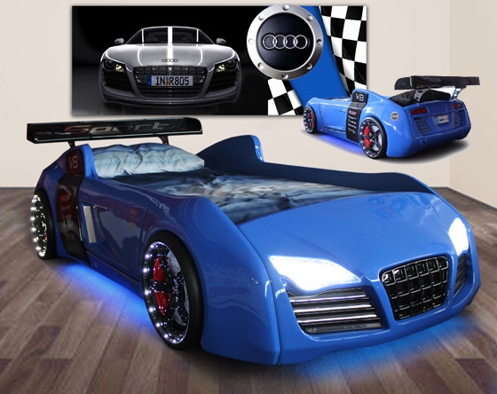 Quattro V8 Car Bed is the epitome of all car beds. Its hair raising ...