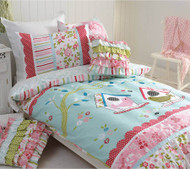Birdhouse Double Quilt Cover By Cubby House Kids