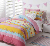 Amity Pink Double Quilt Cover By Logan & Mason