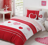 Molly Strawberry Double Quilt Cover By Logan & Mason