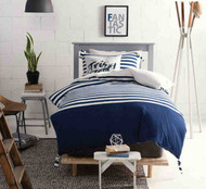 Breton Blue Quilt Cover by Marie Claire