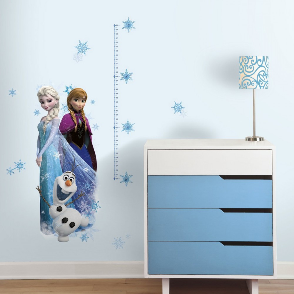 Have fun watching your little one grown with these Disney Frozen Growth Chart Wall Decals!