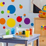 These removable dot wall decals are an easy and fast way to decorate kids' bedrooms, playrooms, nurseries, classrooms, and more.