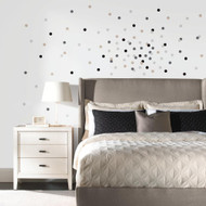 Neutral Confetti Dots Wall Decals