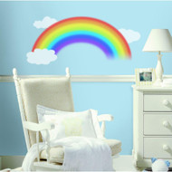 Decorate your little one's nursery or bedroom with this beautiful painterly rainbow wall decal.