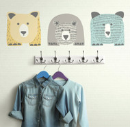 Bring unique style to nursery walls with DwellStudio Bears Giant Wall Decals.