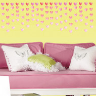Add a sweet touch to your walls with our Watercolor Heart Walls Decals from RoomMates!