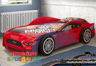 Ford Mustang Car Bed is our latest design and far and away the one of coolest car bed on the market! Big flash wheels and features a fibre glass front.