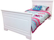 Marseille Bed Frame features a solid head & footboard. Beautiful French inspired design and manufactured to last.