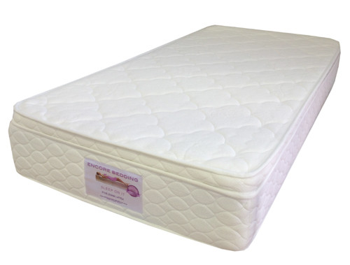 Five Zone Latex Pocket Spring Mattress features a no turn single sided pillowtop.