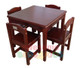 Table and Four Chairs are the perfect place for the kids to draw and paint. The table and four chairs are a very solid construction made from pine.