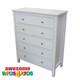 Lilydale Tallboy matches all of our low gloss beds and Furniture. The Five drawer is our most popular size and features five drawers on metal runners.