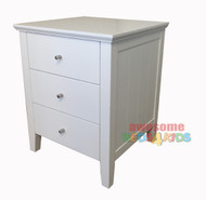 Cody three drawer bedside matches all of our low gloss beds and furniture.