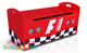 F1 Toy Box completes your child's bedroom racing car theme. Great storage and great value for money. Available in Red or Blue. Co-ordinates with most of the novelty beds.