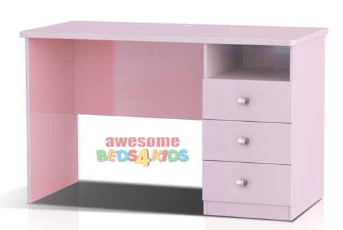 Princess Desk completes your little girls bedroom princess theme. Great storage and great value for money. Co-ordinates with all pink novelty beds.