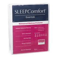 Waterproof Mattress Protector By Sleep Comfort features a terry towelling surface provides absorbency while the flexible, waterproof backing gives peace of mind with this protector. Fully fitted with a stretch knit skirt, it can be both machine washed and tumble dried.