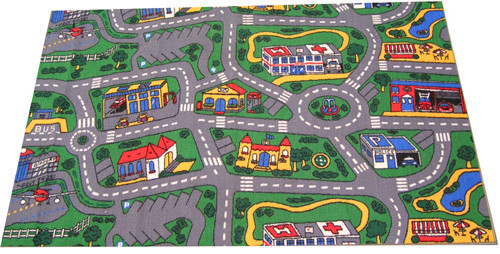 City Road Rug is a great design which is a soft and comfortable play mat - Nylon cut pile from Egypt.