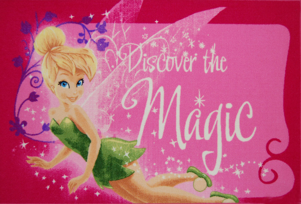 Tinkerbell Kids Rug is a great design which is a soft and comfortable play mat - Nylon cut pile from Egypt.