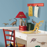The Jurassic Age is here! These realistic and beautifully painted peel and stick dinosaurs will plunge your room back into a time when these impressive animals walked the earth!