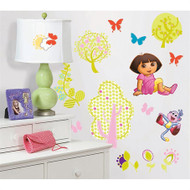 Transform your bedroom into an explorer's paradise with these fun Dora the Explorer wall decals!