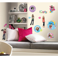 iCarly jumps off the TV screen into your bedroom with this cool set of iCarly wall stickers.