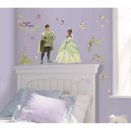 Bring enchantment, beauty, and fun to your little girl's room with these decorative wall decals featuring beloved characters from Disney's The Princess and the Frog.
