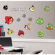 Take revenge on those egg-stealing pigs in a whole new way! Bring your favorite mobile game to your walls with this officially licensed set of Angry Birds wall decals.
