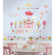 Do you know a little girl who's as sweet as can be? Treat her with this scrumptious set of repositionable wall stickers.