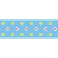 Blue Dot Peel & Stick Border