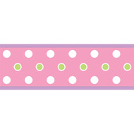 Pink Dot Peel & Stick Border