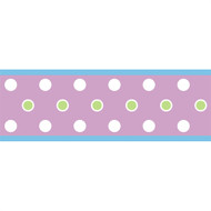 Purple Dot Peel & Stick Border