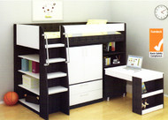 The Vectra Loft Bunk is the perfect all in one solution for your kids room.