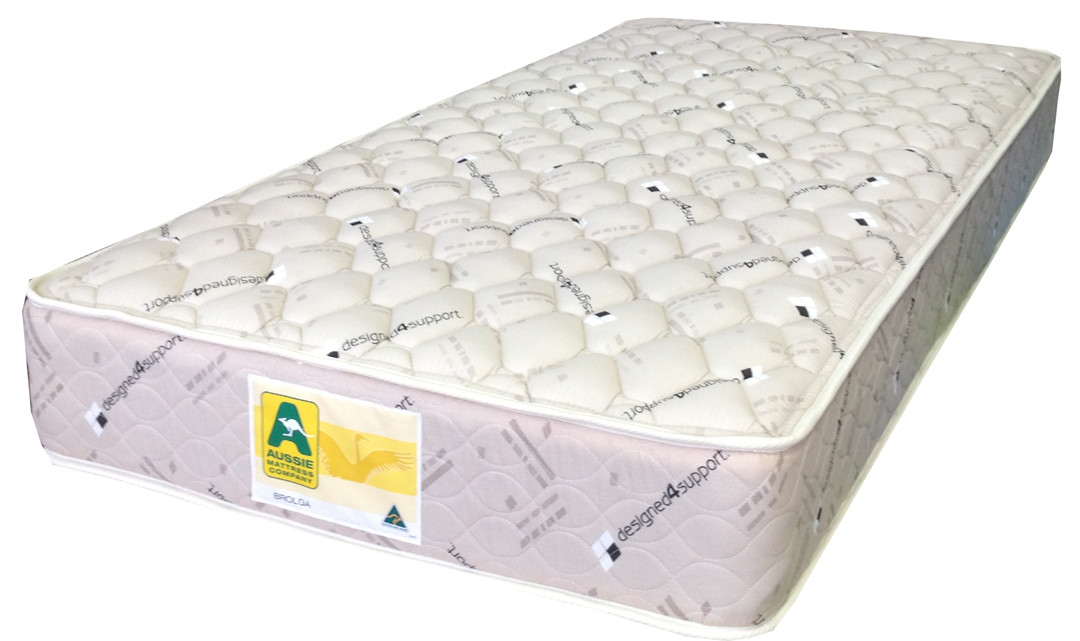Brolga innerspring mattress features a double sided mattress with a 5 year warranty