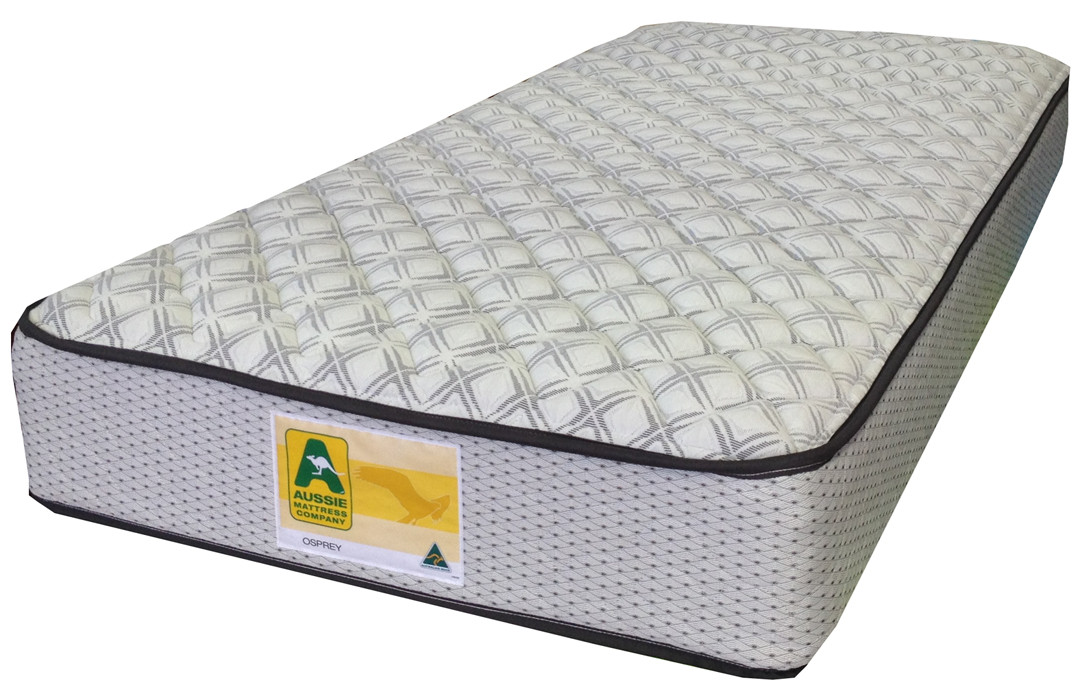 """Osprey innerspring mattress features a """"No Turn"""" mattress with a 5 year warranty and quality stretch knit cover"""