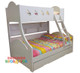 Chloe Bunk Bed Double Single Bunk Bed features a curved head and foot board joining the top and bottom bunks making the style very unique. Includes single pullout storage trundle.