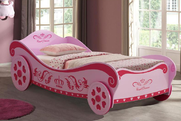 The Charlotte Princess Car Bed will have your little girl drifting to lovely dreams each night. The perfect first bed.